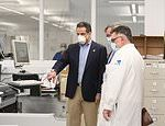 Governor Andrew Cuomo visits coronavirus testing lab ahead of large scale anti-body testing