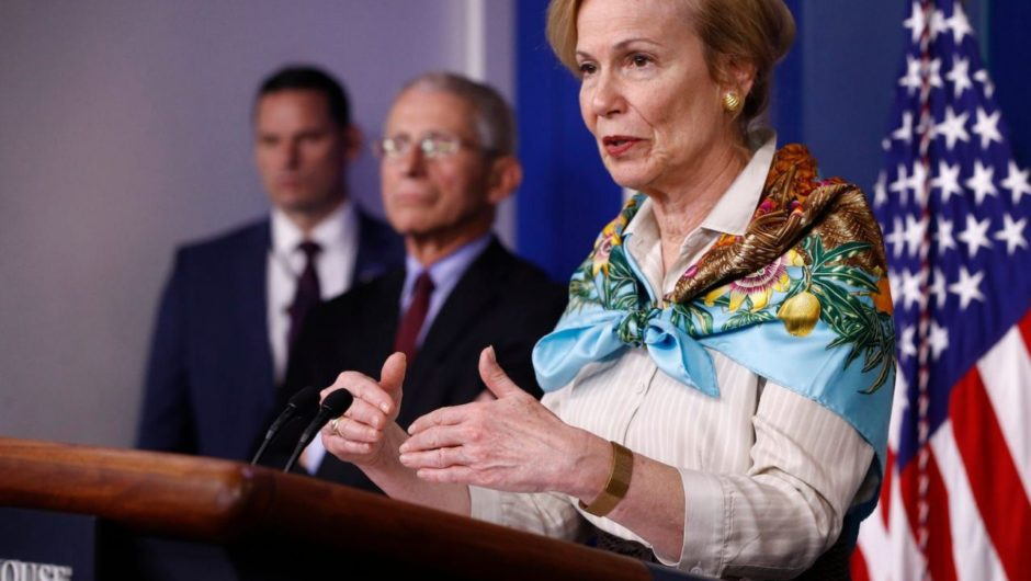 White House medic Deborah Birx said coronavirus deaths will 'dramatically' decrease by the end of May, but social distancing will go on for much longer