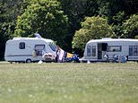 Travellers pitch up in west London but cannot be moved on due to Covid-19 pandemic