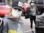 Lisa Rinna steps out with a mask and gloves as she protects herself from the COVID-19 outbreak