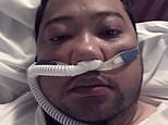 Coronavirus patient gasps for air as he reveals how battling the disease is 'like drowning'