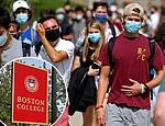 Boston College encourages student reports of coronavirus infractions including improper mask-wearing