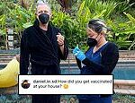 Jeff Goldblum gets his 'first dose' of the COVID-19 vaccine at his Los Angeles home