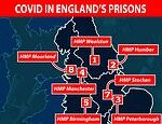 Coronavirus: Eight out of England's 10 Covid hotspots have prisons