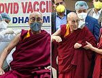 Dalai Lama, 85, is given his first coronavirus jab as he urges others to be brave and get vaccinated