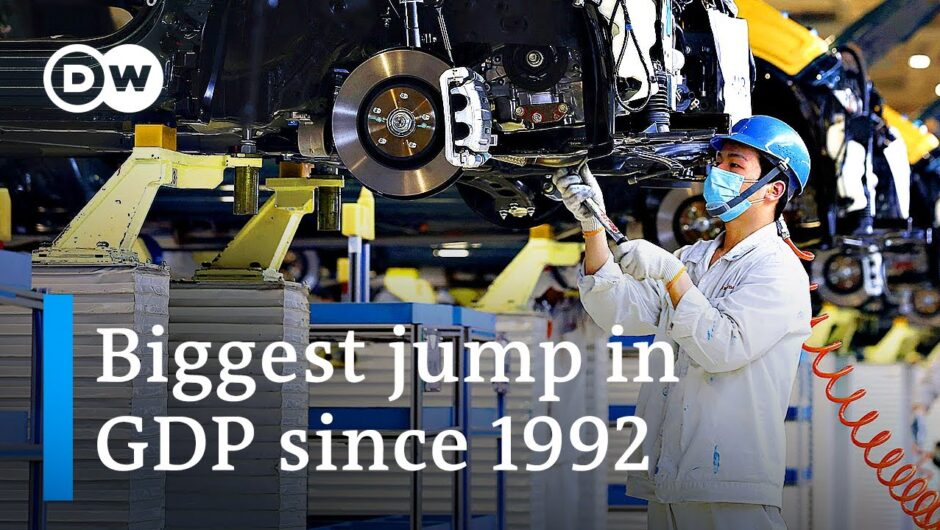 China's economy grows at record 18.3% after 2020 pandemic slump | DW News