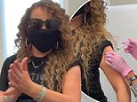 Mariah Carey hits a high note after receiving her first COVID-19 vaccine