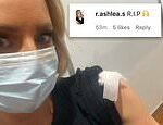 Carrie Bickmore is attacked by anti-vaxxers for getting the coronavirus vaccine