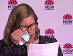 Covid-19 Australia: Dr Kerry Chant uses face mask to wipe eye temporarily stopping press conference