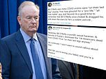 Bill O'Reilly said 'many people dying of coronavirus were on their last legs anyway'
