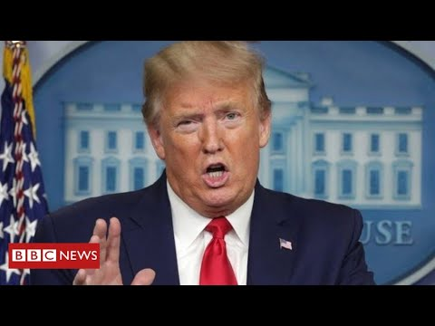 """Coronavirus: Trump claims advice to inject disinfectant was just """"sarcasm"""" – BBC News"""