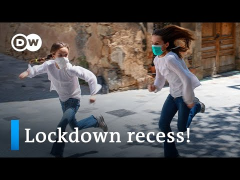 Spain lets kids out to play after 6 weeks of coronavirus lockdown   DW News