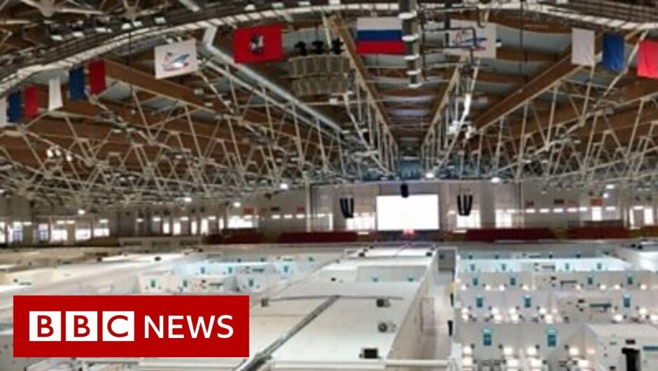 Coronavirus: Russia uses ice rink as field hospital – BBC News