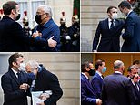 President Macron tests positive for Covid-19 and is self-isolating day after hugging Portugal's PM