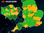 Coronavirus cases rose in a THIRD of England's 150 councils in England last week