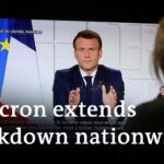 French President Emmanuel Macron ordered a third lockdown across the country | DW News