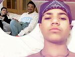 Peter Andre and Katie Price's son Junior, 15, announces he has been diagnosed with COVID-19