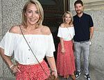 Laura Hamilton seen for the first time since having a reaction to Covid-19 jab