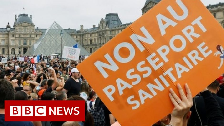 France rolls out Covid health pass as cases soar – BBC News