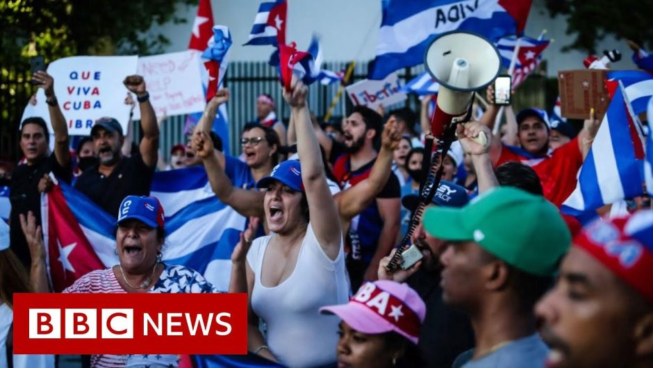 Floridians rally in support of Cuban protesters – BBC News