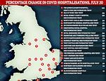 Covid-19 UK: Admissions spike in FOUR FIFTHS of hospitals across England