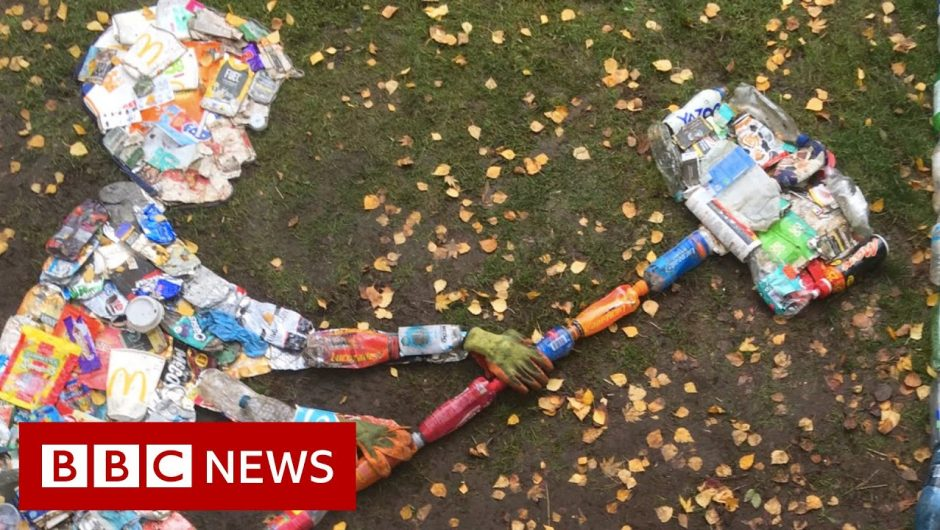 """""""I make art out of discarded facemasks"""" – BBC News"""